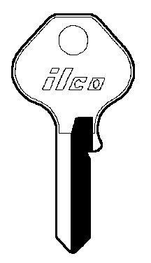 Master Lock Key Blank For Masterlock W6000 Nkl Platd Brs Boxed