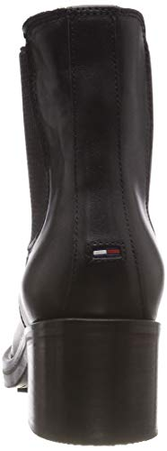Para Estilo Biker black Boot 990 Motero Tommy Essential Mujer Botas Elastic Jeans Negro twBSY8
