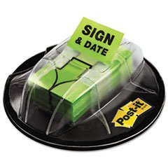* Flags in Dispenser, ''Sign & Date'', Bright Green, 200 Flags/Dispenser