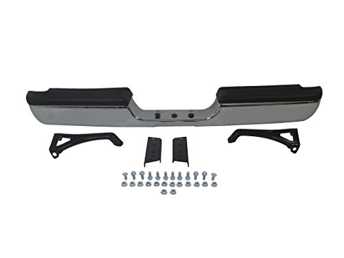 Rear Pickup Brackets Bumper - 94-01 Dodge Pickup Ram1500 (W/o Sport Model) / 94-02 RAM 2500 3500 Pickup Rear Step Bumper Chrome Full Assy with Top Pad, with Outer Bracket, with Inner Bracket, with Hintch CH1102328