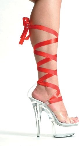 Ellie Platform with Different Heel Color Ribbons Women's BELLA Sandal 7 Clear 609 6