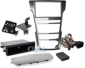 (Metra 99-3018S Single and Double DIN Dash Installation Kit for 2008-2015 Cadillac CTS Vehicles -)