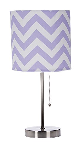 Sweet Potato Swizzle Purple Mod lamp & Purple Chevron Shade