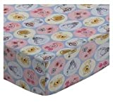SheetWorld Fitted Cradle Sheet 18 x 36 - Pooh & Friends Circles - Made In USA