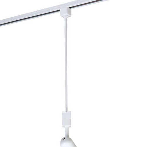 Nora Lighting NT-322 18'' Track Extension Rod, White by Nora Lighting