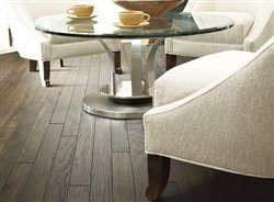 "Shaw Brushed Suede Fedora 5"" x 1/2"" Distressed Engineered Hickory Hardwood Flooring Builder Sample"