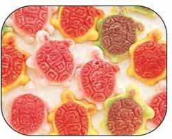 Jelly Filled Gummi Gummy Turtles Candy 2.2 Pound Bag - Gummi Turtles