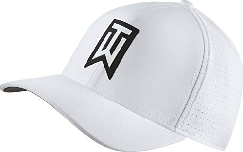 (Nike TW AeroBill Classic 99 Performance Golf Cap 2018 White/Anthracite/White Large/X-Large)
