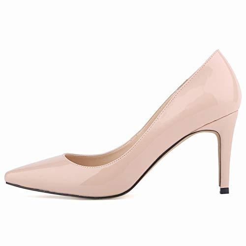 Zapatos M Boda Puntiagudos Boca Aguja Temperamento Solo Y Baja Tacones De Sexy Simple Flyrcx Trabajo Damas Elegante YqTaW7T6