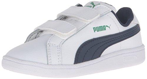 PUMA Boys Smash Fun L V INF Sneaker White/Peacoat, 7 M US Toddler