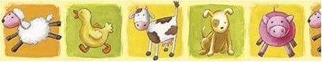 Decofun 42502 - Bauernhof, Tapetenbordüre Tapetenbordüre Dinico BOFARMDEC