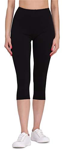 Bellivalini Legging 3/4 Pantalon Capri en Viscose Tenue Sport Femme BLV50-148