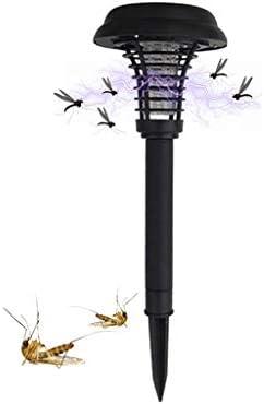 riou Anti Mosquito Lámpara Solar para Mosquitos Mosquito Killer Jardín Exterior LED Lámpara para césped Sensor de luz Control para Mata Mosquitos, Insectos, Polillas (2 PCS): Amazon.es: Jardín