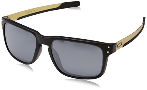 Oakley Men's OO9384 Holbrook Mix Rectangular Sunglasses, Matte Black/Prizm Black Polarized, 57 ()