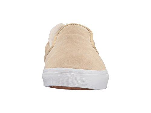 Bestelwagen Classic Slip Op Suede / Fleece Kaki / True White Heren Skate Schoenen Maat 10.5