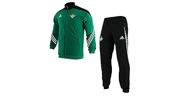 portón obvio Saco  adidas PES Suit Chándal Real Betis Balompie 1ª Equipación 2015/2016,  Hombre, Verde/Negro/Blanco (Custom), 2XL: Amazon.es: Zapatos y complementos
