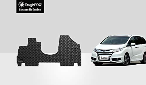 ToughPRO Front Floor Mat Set for Honda Odyssey - All Weather - Heavy Duty - Black Rubber - 2011-2017 by ToughPRO (Image #2)