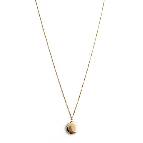 HONEYCAT Keepsake Locket Necklace in 24k Gold Plate | Minimalist, Delicate Jewelry (G)