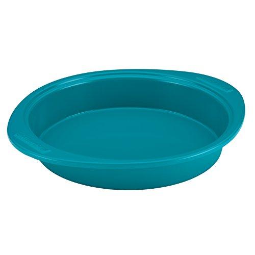 (SilverStone Hybrid Ceramic Nonstick Bakeware Steel Cake Pan, 9-Inch Round, Marine Blue)