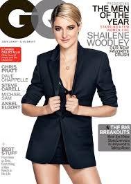 GQ Magazine - December 2014 Men Of The Year Shailene Woodley Cover
