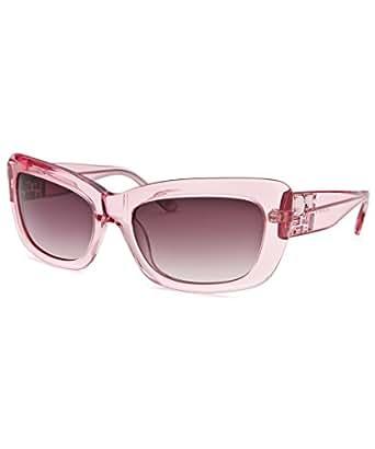 BEBE Sunglasses BB7030 001 Crystal Pink 55MM at Amazon Men