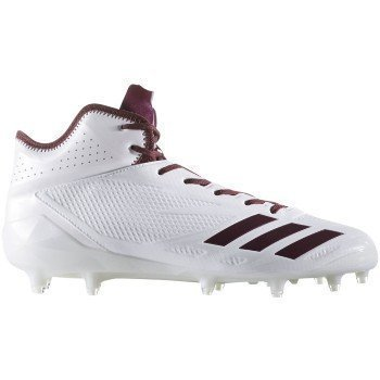 competitive price c19b0 528a8 adidas Adizero 5Star 6.0 Mid Cleat Mens Football 11.5 White-Maroon-Maroon