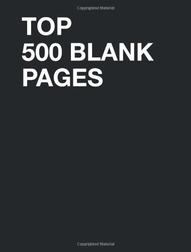Read Online Top 500 Blank Pages pdf
