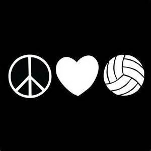 Chase Grace Studio Volleyball Love Sports Vinyl Decal Sticker|WHITE|Cars Trucks Vans SUV Laptops Wall Art|7.5