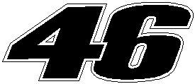Online Design 2 Rossi 46 Decal Graphic Sticker Bike Valentino
