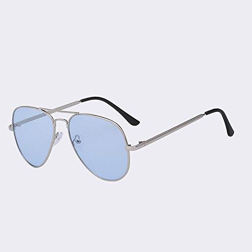 Gafas de conducir para clásicas gafas espejo UV400 de Visión Gafas gafas Controlador Silver UV400 Gafas w plata TIANLIANG04 gafas Hombre Nocturna blue Mujer ngUp700qOw