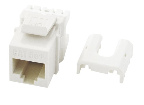 Quick Connect Cat5e Plate Wall - Legrand - On-Q WP3475WH Cat5e RJ45 Quick Connect Keystone Insert with 110 Punch-Down, White