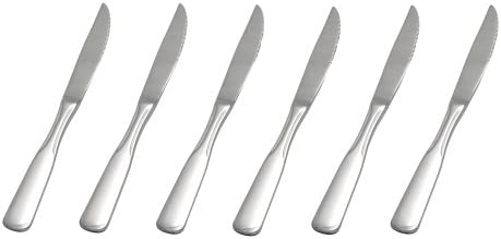GRÄWE® Steakmesser 6 Stück, Serie SPATEN aus Edelstahl