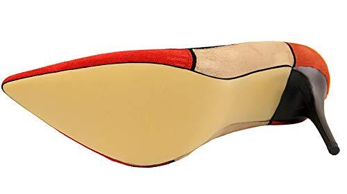 Tacco Agoolar Scarpe A Tirare Alto Di Pelle Giacinto flats Gmmdb006844 Mucca Punta Donna Ballet xUTUpwSqXA