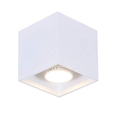Lámpara LED de techo Cuádruple 1 weiß INCLUIDO 7 Vatios Bombilla Lámpara de techo anguloso 10x10cm Iluminación Moderna IP20 Lámpara de comedor MANTA + ...