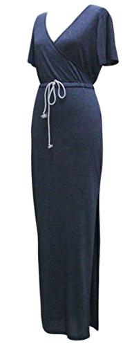 Magro Fessura Womens Aderente Lace Vestito Del Collo Blu Pencial Cromoncent Lungo V Spiaggia Up 5EEqxHwWr