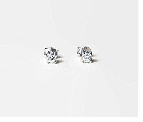4e5bffb0e 3mm diamond stud earrings - tiny diamond stud earrings - round or square sterling  silver cubic zirconia studs - crystal studs - simple classic jewelry - ...