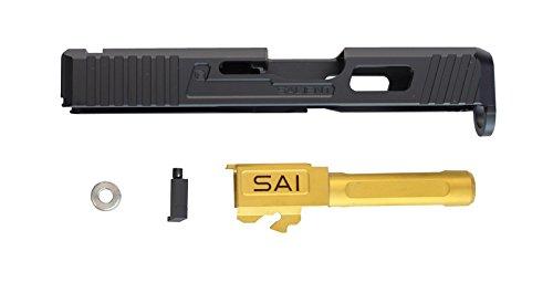 Guns Modify SAIタイプ CNCアルミスライド/GOLDバレルセット 東京マルイG26対応 B07CPQ2B6C