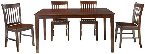 East West Furniture CANO5-MAH-W Small Kitchen Table Set 5 Pc