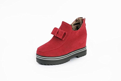 Ankle High Boots Womens With Wedges Fashion Red Bow Latasa Zipper TqxIFwtHn