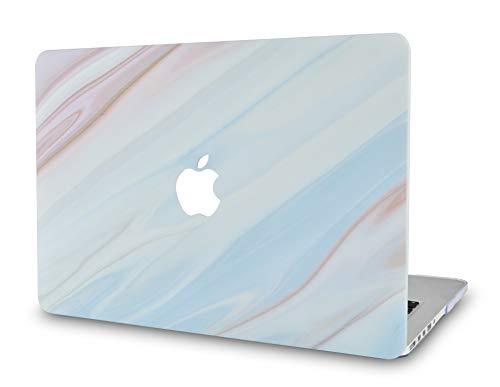 - LuvCase Rubberized Plastic Hard Shell Cover Compatible MacBook Pro 13 inch A1989 / A1708 / A1706 with/Without Touch Bar, Newest Release 2019/2018/2017/2016 (Blue Marble with Brown Veins)