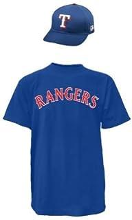 6f549e45a Texas Rangers MLB Cap   Jersey (Official Major League Baseball Licensed  Replica Hat   Cotton