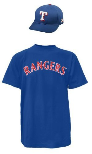 1aa94e70657 Amazon.com   Texas Rangers MLB Cap   Jersey (Official Major League ...