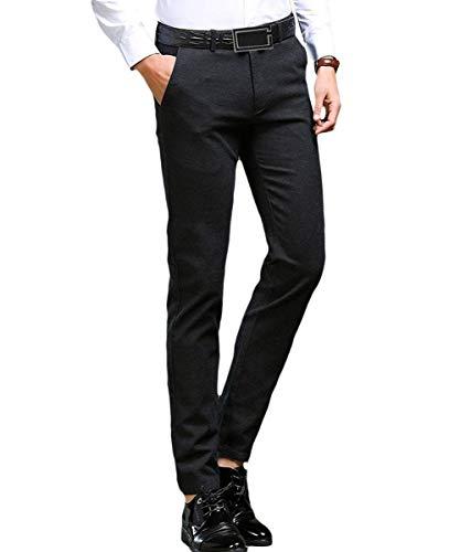 Pantaloni Lavoro Fit Comode Casual Abiti Nero Taglie Slim Da Uomo r4v6r