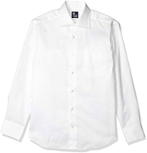 ワイシャツ 日本製 早稲田屋 ドレスカジュアル 長袖シャツ ワイドカラー 綿100% レギュラーフィット メンズ