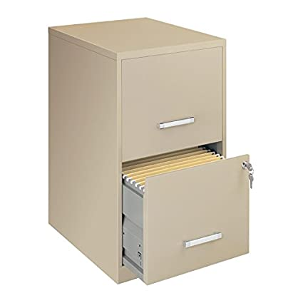 differently 71555 64f92 Amazon.com : Filing Cabinet Putty-colored 2-drawer Steel ...