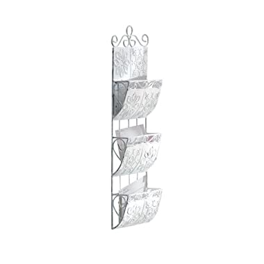 Gifts & Decor Distressed Metal Letter Holder Organizer