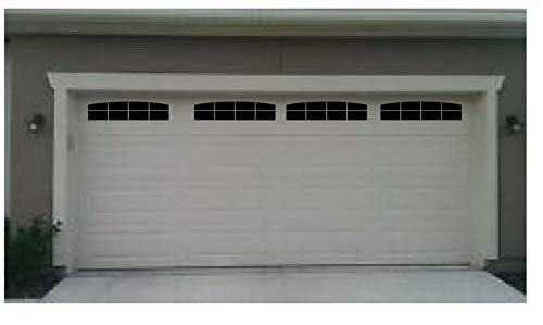 BYRON HOYLE Carriage House Style Faux Garage Door Windows for Wide Panel Doors Vinyl Decals (Panel Window Chart Size)