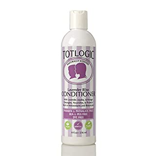 TotLogic Kids & Baby Safe Conditioner - 8 oz, Lavender Bliss, Infused with Natural Jojoba Oil and Rich in Antioxidants to Detangler Hair, No Phthalates, Parabens or Sulfates