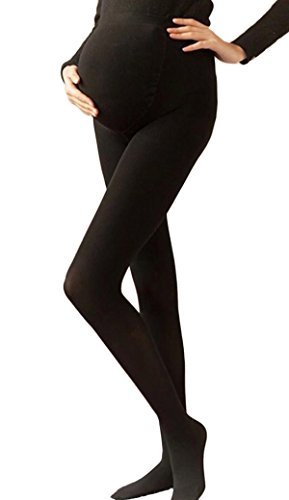 Review Niyatree Stretch Pantyhose Maternity Full Support Compression Stockings 120 Denier for Pregnant Black