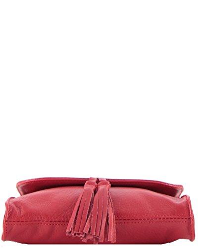 histoireDaccessoires - Mini bolso de cuero Mujer - SA000123GV-Dana Rojo